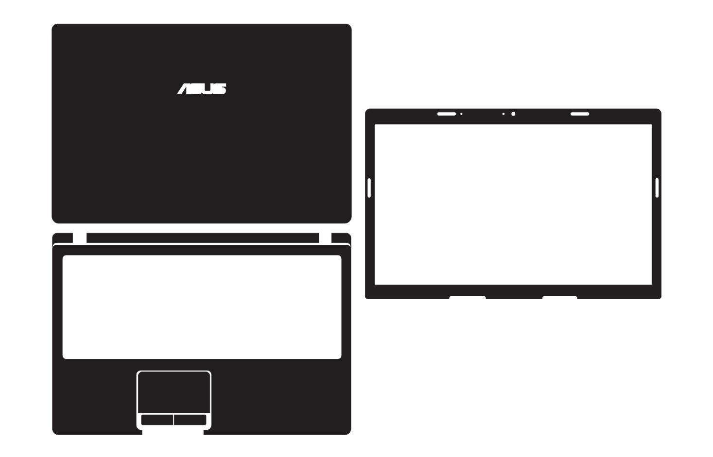 Laptop Carbon Fiber Vinyl Skin Stickers Cover Guard For ASUS K53S K53SD K53SV K53SM 15.6
