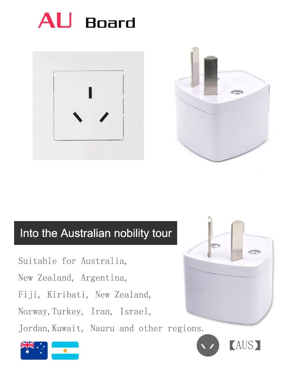 1PC Universal UK US AU EU AC Power Socket Plug Travel Electrical Charger Adapter Converter Japan China America Italy Switzerland (10)