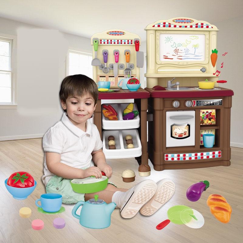 Kids Simulation Kitchen Toys Children Play Toys Baby Kitchen Toys Set North American Style High-end Dining Table Kitchen ToyKids Simulation Kitchen Toys Children Play Toys Baby Kitchen Toys Set North American Style High-end Dining Table Kitchen Toy