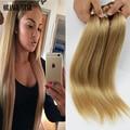 """Brasileño de la Virgen Del Pelo Del Color 27 Honey Blonde Hair Brasileño Bresilienne Tissage Recta Del Pelo Humano Recto 10 """"-30"""" 2 Unids CS202"""