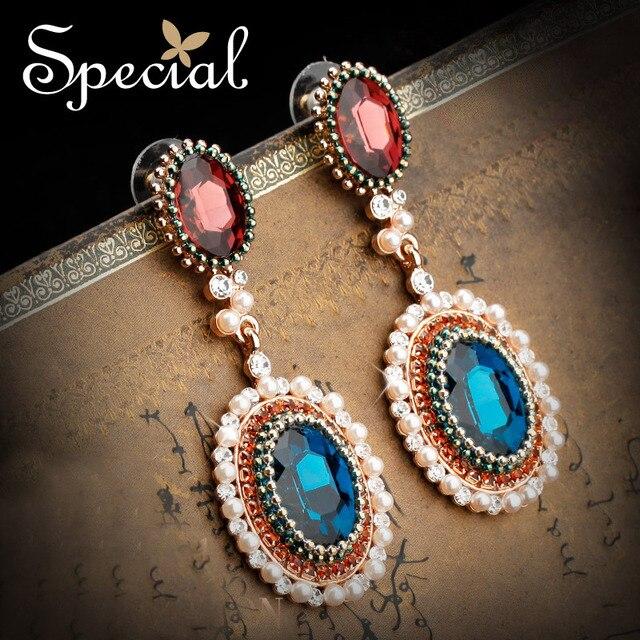 Special Fashion Vintage Style Long Earrings Bohemian Big Earrings For Women Free Shipping Handmade Dangle Earrings ED141199