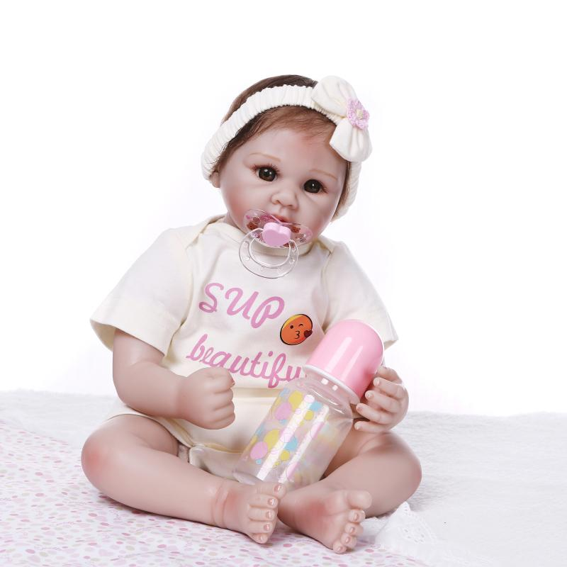 Realista bebe Girl reborn baby doll 22inch soft silicone vinyl reborn dolls alive toys gift for child boneca reborn NPK DOLLRealista bebe Girl reborn baby doll 22inch soft silicone vinyl reborn dolls alive toys gift for child boneca reborn NPK DOLL