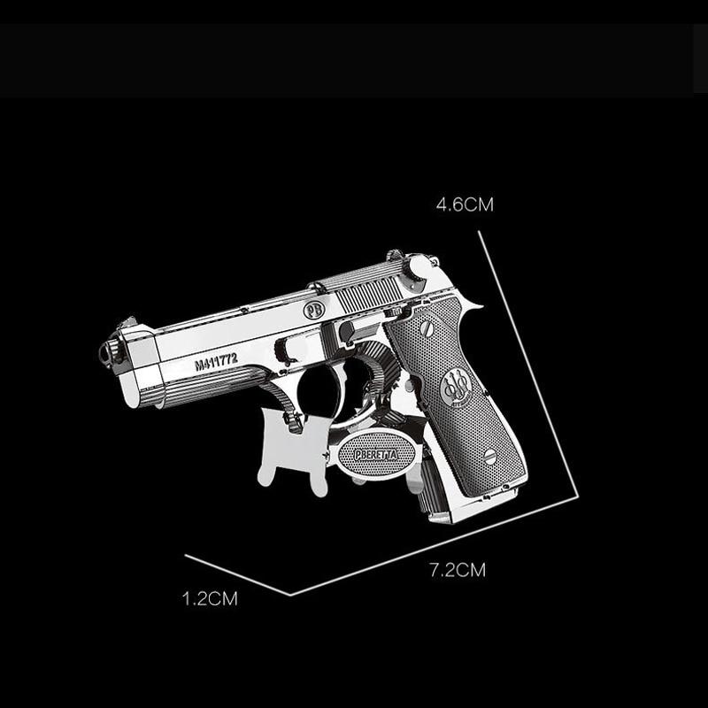 Nanyuan 3D Metal Puzzle Beretta 92 oružje oružja Model DIY Laser - Igre i zagonetke - Foto 3