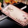 Стразы Прозрачный Мягкие TPU Case For Huawei P8 P8 lite P9 P9 lite P9 плюс Mate 7 8 9 honor 8 V8 5C 5X 6X 4А 5А Случаях крышка