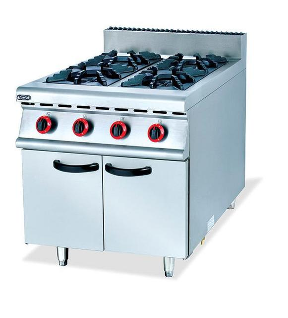 commercial four stand gas kitchen stove food frying stove lpg