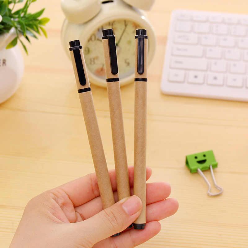 DL Japonya Güney Kore kırtasiye basit kraft kağıt kabuk nötr kalem yaratıcı 0.5mm Kırtasiye ofis malzemeleri öğrenciler için