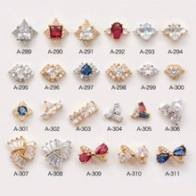 New 5pcs top-level nail art Zircon alloy Accessories luxury zircon crystal salon jewelry beauty diamond Charms