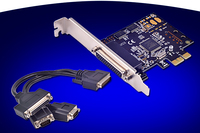 PCI Express To 2 Ports Serial RS 232 COM 1 Parallel LPT Expansion Card MCS9901