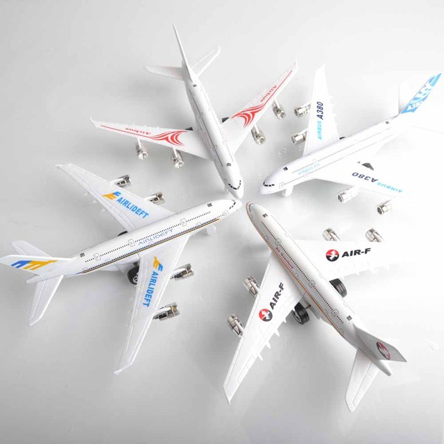 Alloy model a380 airliner acoustooptical