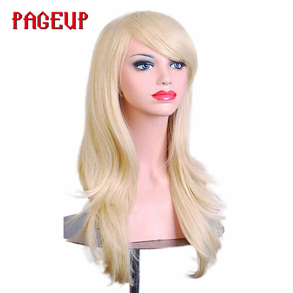 Pageup Rode Pruik красный афро парик с челкой для черных женщин термостойкие косплей парик Pruik Roze Bodywave парик Синтетический кудрявый парик
