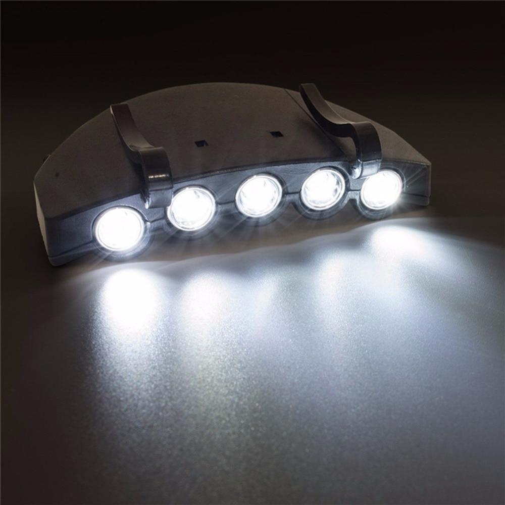 5 LED Light Super Bright Cap Head Flashlight Cap Hat Light Clip On Light Fishing Headlight5 LED Light Super Bright Cap Head Flashlight Cap Hat Light Clip On Light Fishing Headlight