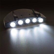 5 LED Light Super Bright Cap Head Flashlight Cap Hat Light Clip On Light Fishing Headlight стоимость