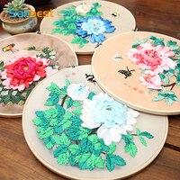 Sanbest ленты вышивка живопись 3D DIY вышивки крестом завод Бабочка Riband китайский декор картины на заказ