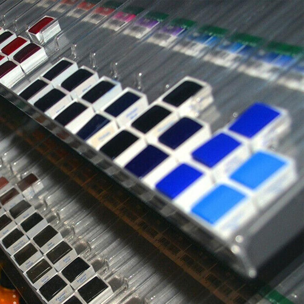Transparent Plastic Watercolor Paint Trial Dispensing Grid Transparent Mini Square Half Block