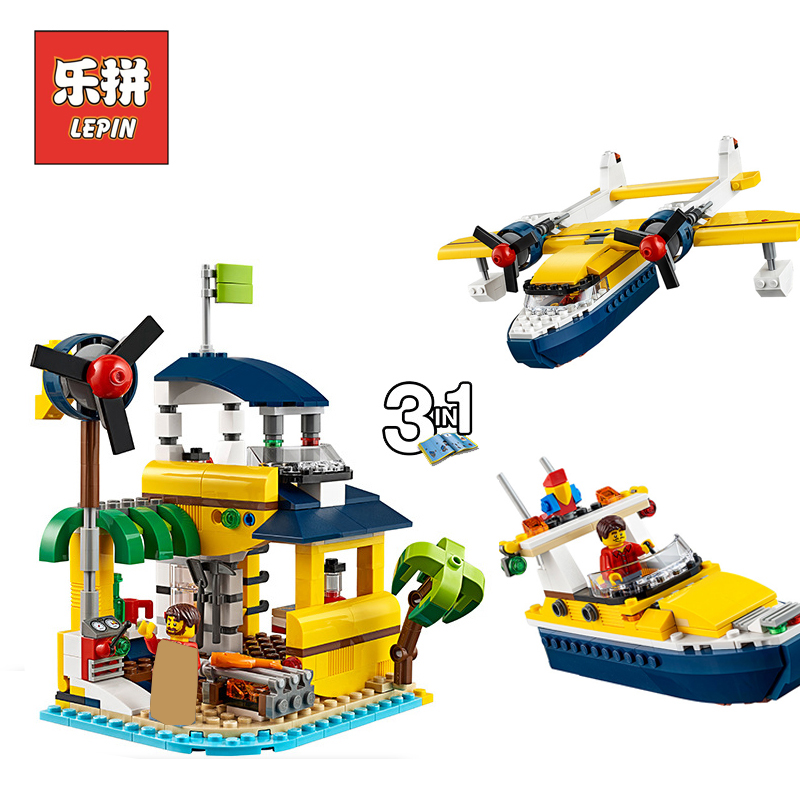 Lepin Technic 24021 Creative Series Seaplane Underwater Explora Ship DIY Set Model Building Kits Blocks Bricks Children Toy Gift