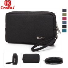 Coolbell 7 Inch Zipper Pouch Waterproof Neoprene Bag Data Line Digital Memory Card Clutch Mobile Hard Disk Phone MP3 Bag Wallet