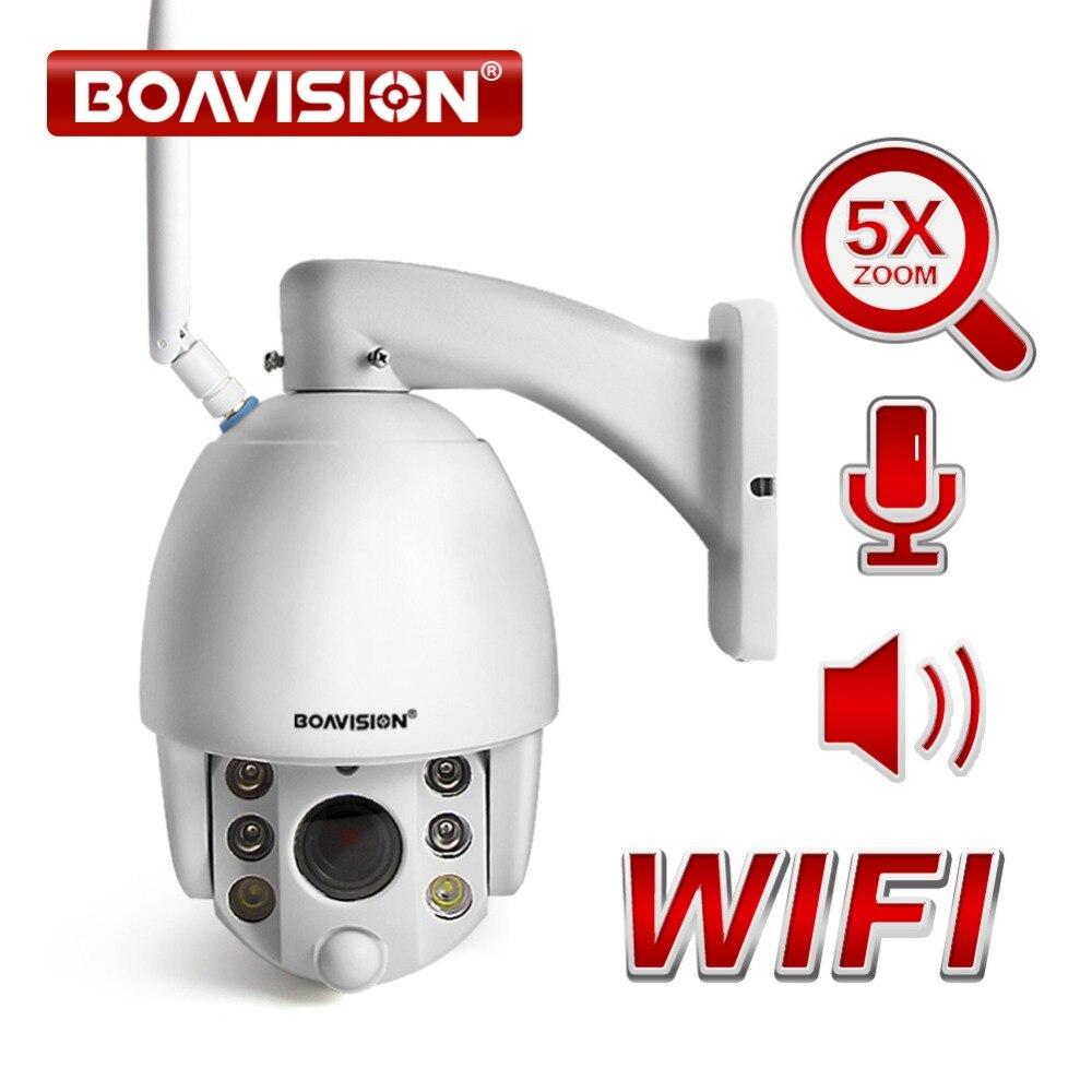 HD 1080 P 5X/10X Zoom Dome PTZ Câmera IP Sem Fio WI-FI Ao Ar Livre Nos Dois Sentidos Áudio Talk + Speaker câmera de Vídeo de Segurança CCTV IR 60 M