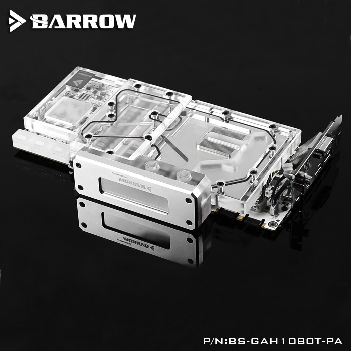 Barrow LRC RGB v1/v2 Full Cover Graphics Card Water Cooling Block BS-GAH1080T-PA for  Galaxy Hall of Fame GTX1080TI 4pin mgt8012yr w20 graphics card fan vga cooler for xfx gts250 gs 250x ydf5 gts260 video card cooling