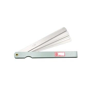 SHAHE Taşınabilir 150 Mm Uzunluk 17 Bıçaklar Feeler ölçer Metrik Feeler ölçer 0.02-1.00mm ölçüm Aracı