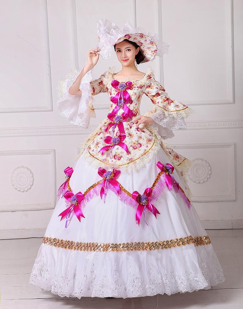 Brand New Floral Renaissance Civil War Southern Belle Dress 18th ...