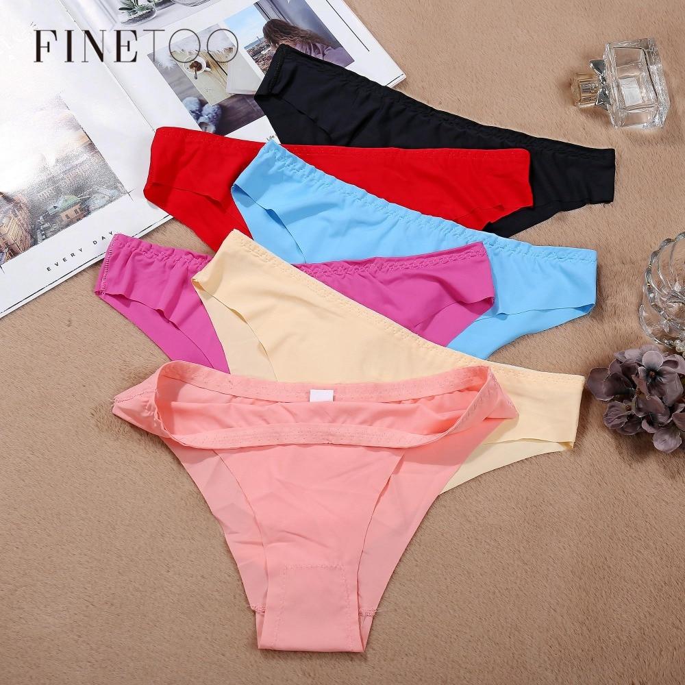 M L XL Plus Size Panty Comfort Briefs Seamless Panties Sexy Low Rise Briefs For Women Fashion Ladies Big Size Underwear Set 2019