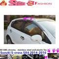 Car styling cover Stick lamp plastic Window glass Wind Visor Rain/Sun Guard Vent 4pcs Suzuk1 S-cross SX4 2014 2015 2016