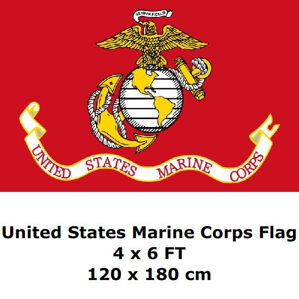 United States Marine Corps Flag 4` x 6` FT 100D Polyester Large USA US USMC  Marines Army Flags and Banners b1cff9c2d