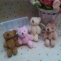 50pcs/lot Kawaii Small Joint Teddy Bears Stuffed Plush 8CM Toy Teddy-Bear Mini Bear Ted Bears Plush Toys Wedding Gifts 011