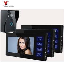 Yobang Security Video intercom Doorbell 7inch screen Handset doorbell with Touch Button Indoor/Outdoor Intercom Video Door Phone