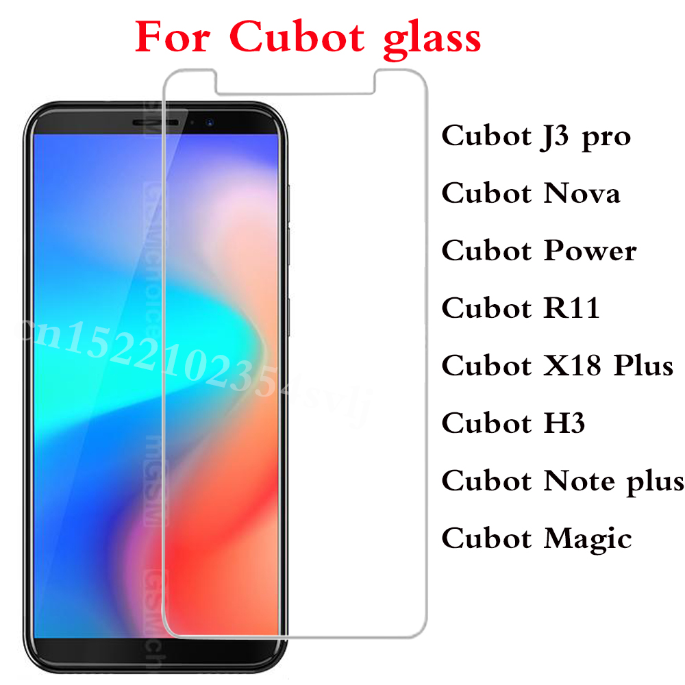 Smartphone Tempered Glass For Cubot X18 Plus R11 Power Nova H3 Note plus Magic Protective Film Screen cover phone Cubot J3 pro>(China)