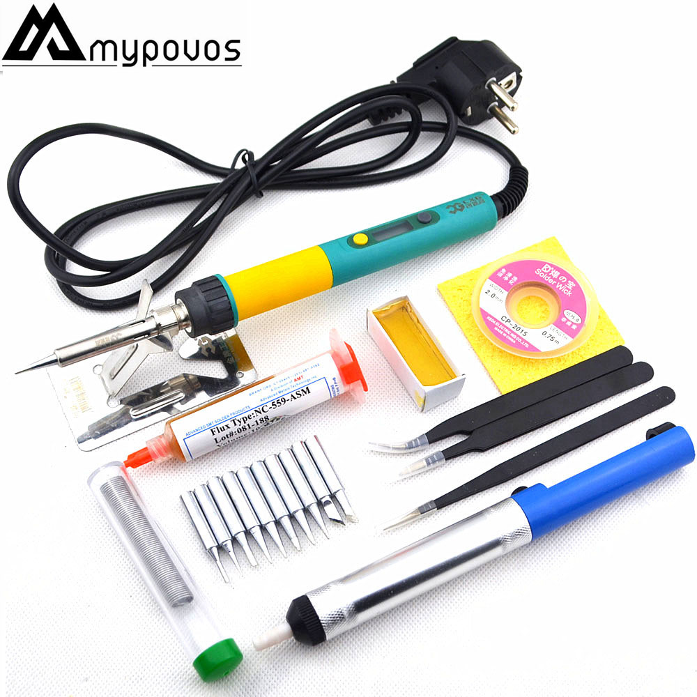 CXG 936d+ EU Plug Digital LCD Adjustable temperature Electric soldering iron 110V/220V 100W Ceramic heater 900M sting Tip cxg 936d eu plug digital lcd adjustable temperature electric soldering iron 110v 220v 100w ceramic heater 900m sting tip