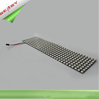 8*32 256LEDs WS2812B LED Flexible Pixel Screen,DC 5V RGB full color SMD WS2811 Built in control For Advertisement