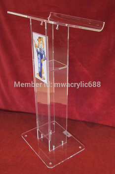 Gratis Verzending Goedkope Mooie Eenvoudige Elegante Acryl Podium Preekstoel Lessenaar