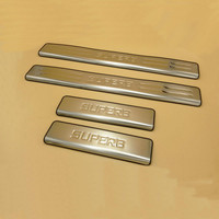 High Quality Car Door Sill Scuff Plate Stickers Trim Threshold Strip Styling Covers Stainless Steel For