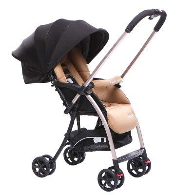 Stroller can sit can lie lightweight portable folding four-wheeled cart simple type stroller baby carrier baby stroller lightweight portable folding children four wheel cart
