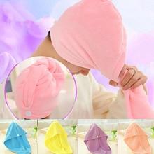 microfiber Magic towel Quick-Dry Hair Towel turban Hat Cap Hair Dryer Bath Salon Towels women hair wraps A4
