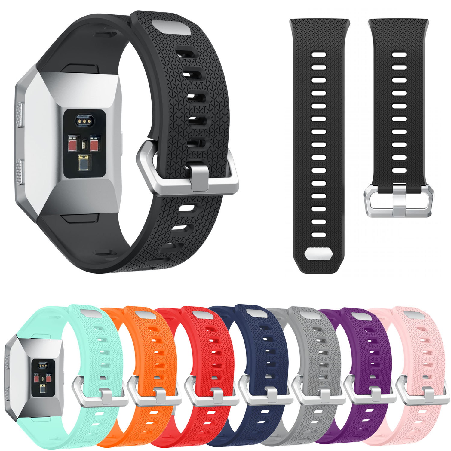 Colorful Silicone Wrist Strap for Fitbit Ionic Band Sports Soft Rubber Watchbands for Fitbit Ionic Replacement Bracelet fitbit watch