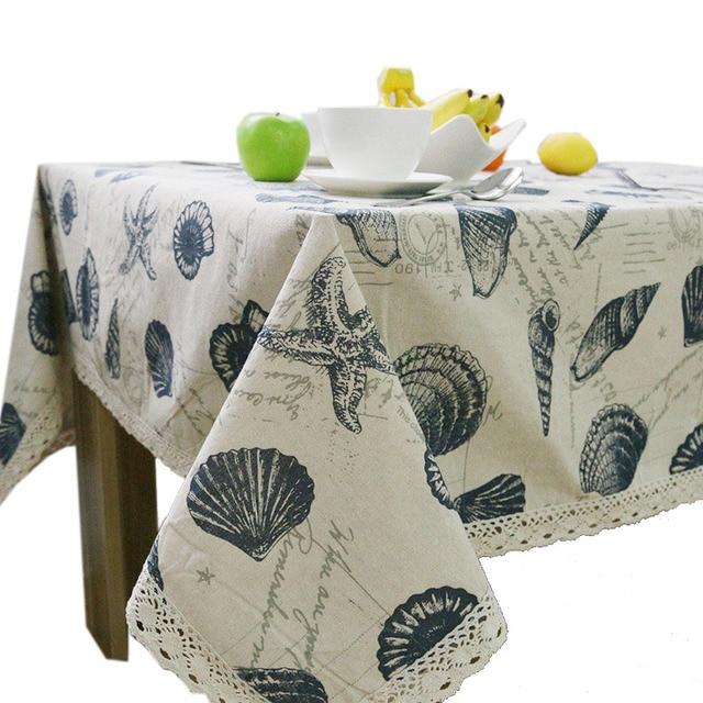 Heisse Meer Stil Tischtuch Jahrgang Tischdecke Abdeckung Shell