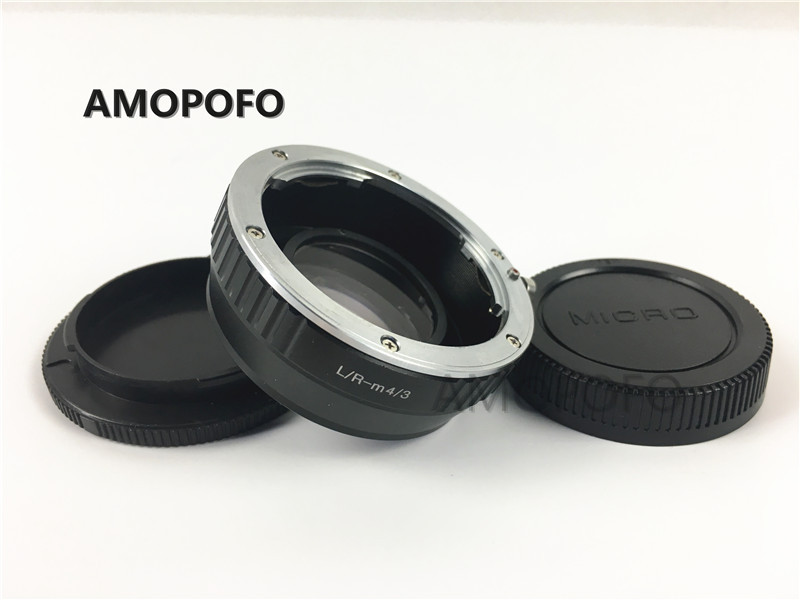 цена на Amopofo LR-M4/3 Focal Reducer Speed Booster Adapter for Leica R L/R mount Lens to For Panasonic DMC-G1, DMC-G2, DMC-G3, DMC-GH1