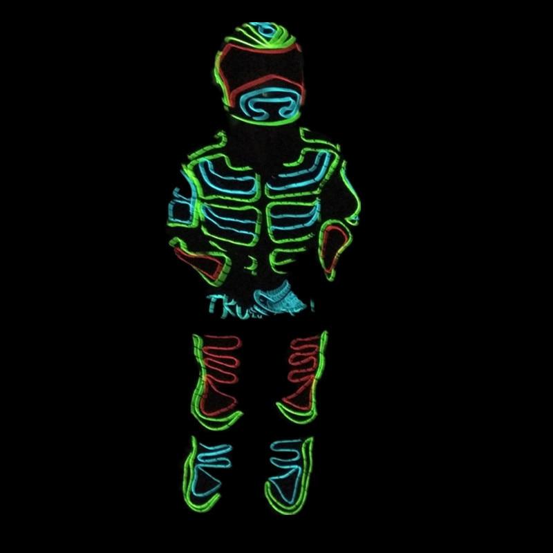 Led Wachsen Blinkende Tron Roboteranzug/EL Draht Kostümtanz Kleidung ...