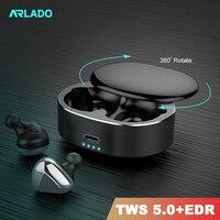 Arlado t50 tws 블루투스 헤드셋 무선 블루투스 이어폰 소음 감소 ios 안드로이드 이어폰 용 스테레오 스포츠 이어 버드