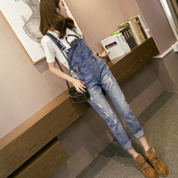 Liva Girl Summer New Women Jeans Ripped Holes Fashion Skinny Straps Full Length Jumpsuit Overalls Strap Trousers Bib Pants
