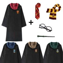 Halloween Robe Costume For Kids Adult Gryffindor Hufflepuff