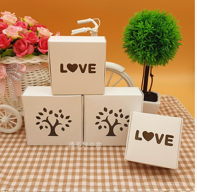 Small white soap paper packaging box with window wedding for Application box decoration