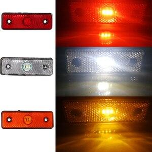 Image 4 - 2 шт 12 V 24 V автомобиль красный светодиодный боковых габаритных огней трейлера Трейлер задний фонарь световой Маркер СВЕТОДИОДНЫЙ позиции знак ширина грузовик Фонарь для грузовика