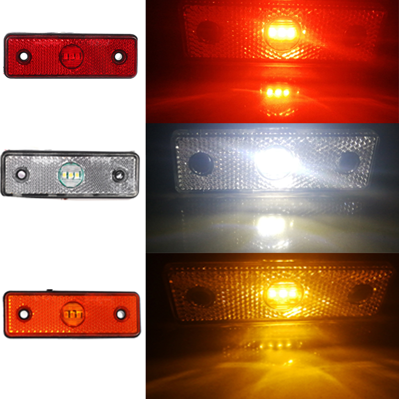 Image 4 - 2 pcs 12V 24V car Red LED Trailer side marker light Trailer light  tail light  marker led  position  sign width truck lorry lamp-in Truck Light System from Automobiles & Motorcycles