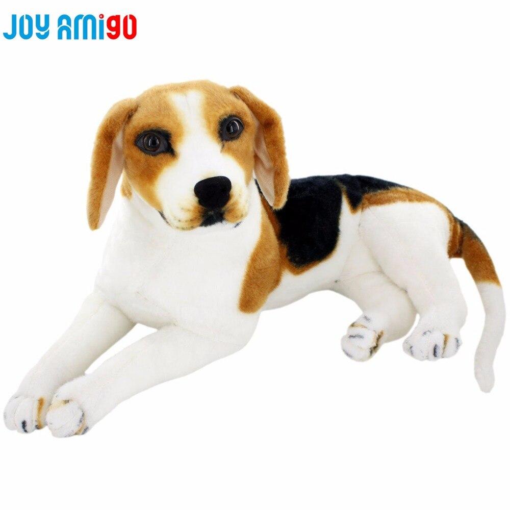 Peluche Peluche Vie Comme Beagle Chien Realiste Animal Jouet Peppy Chiot Assis Cote Couche Geste Decoration De La Maison Cadeau Donner Aliexpress