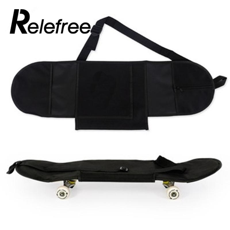 Relefree 81*21cm Trwała Wygodna Przenośna Deskorolka Deskorolka Pokrywa Longboard Plecak Torba Do Noszenia