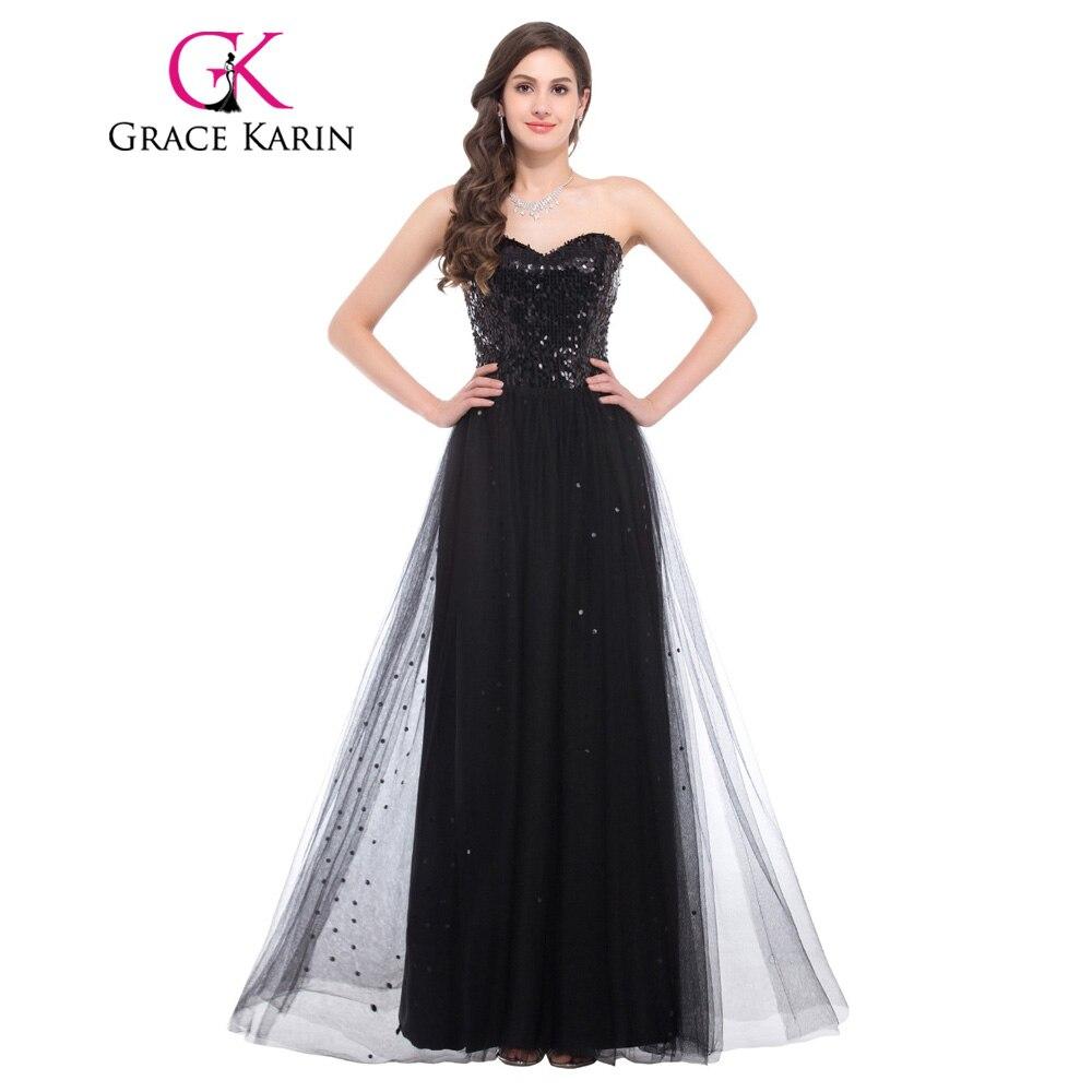 Grace Karin Luxury Sequin Elegant Blue Gold Black Evening
