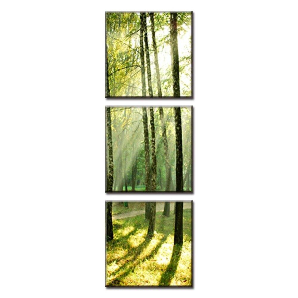 Картина в рамке настенное Искусство Холст в рамке зеленый лес домашняя декоративная картина Печать на холсте Настенная картина в рамке PAP 018
